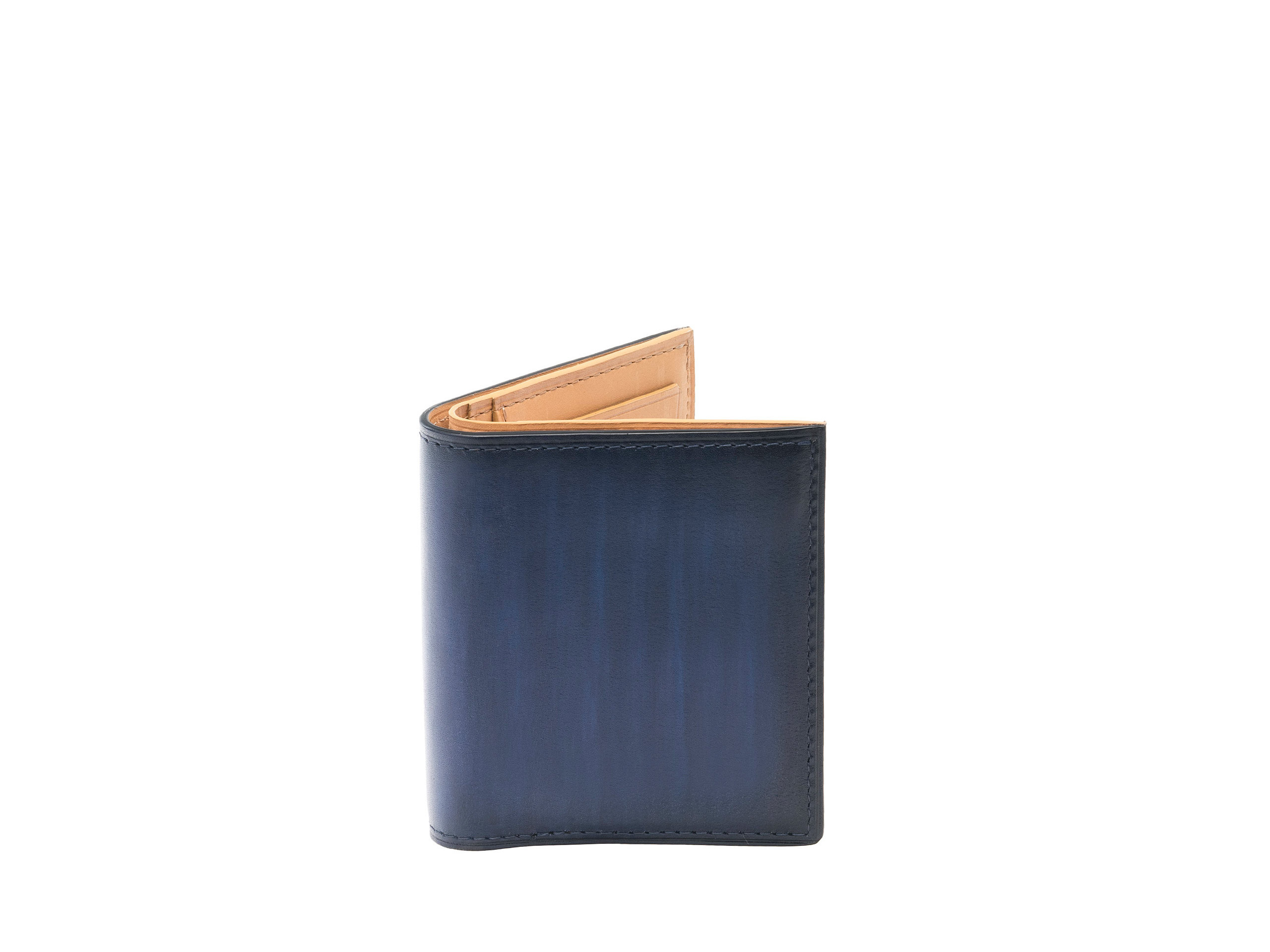 Product Shot of Square Fold Navy Wallet
