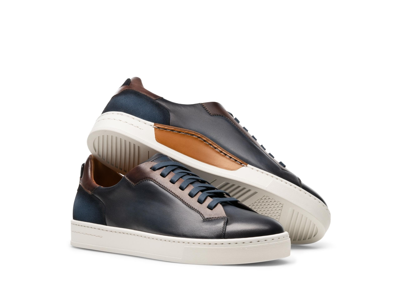Pair of the Amadeo Navy / Brown