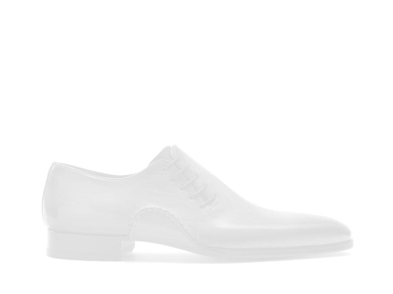Magnanni black leather monk strap shoes for men