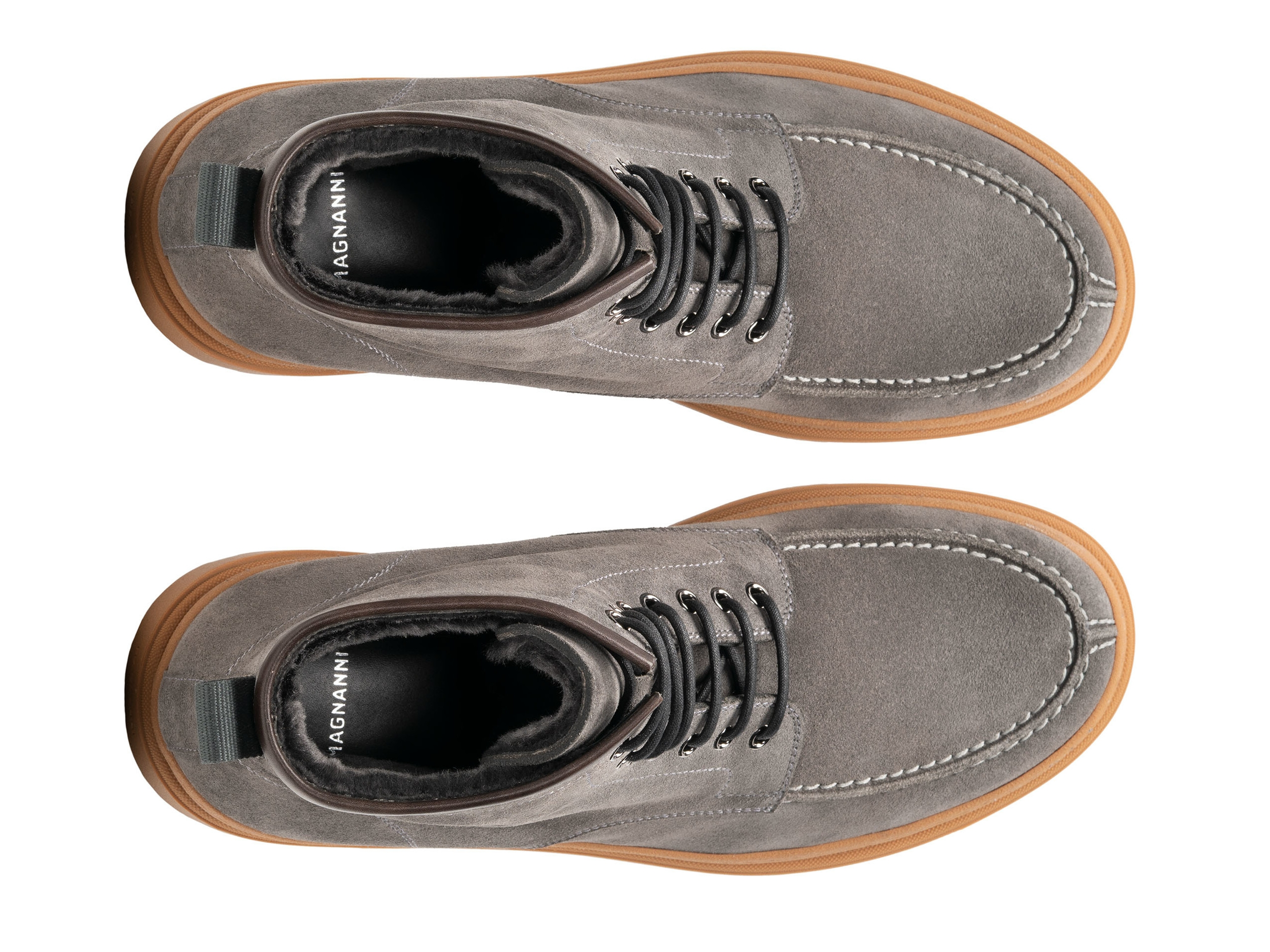 Top Down of the Lupin Grey Suede